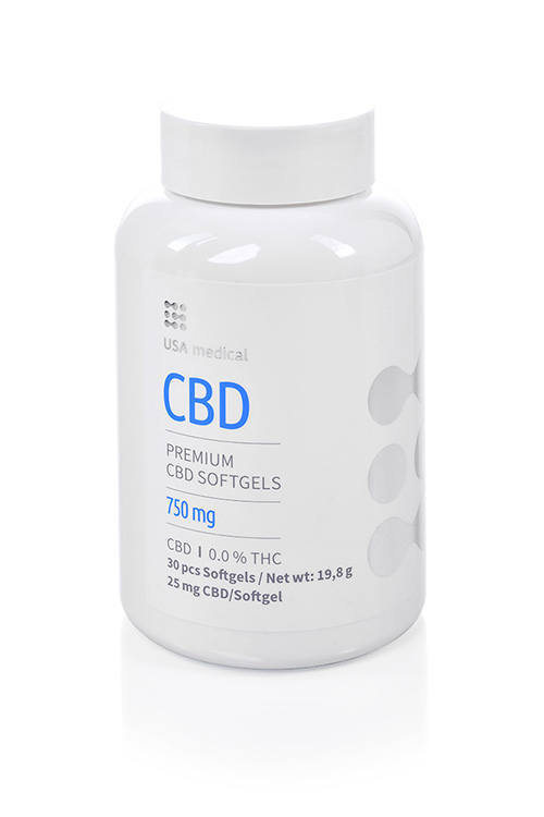 CBD kapsle 750mg USA MEDICAL