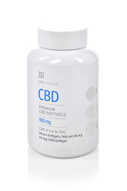 CBD kapsle 900mg USA MEDICAL