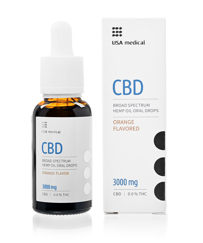CBD olej 3000mg 30ml USA MEDICAL