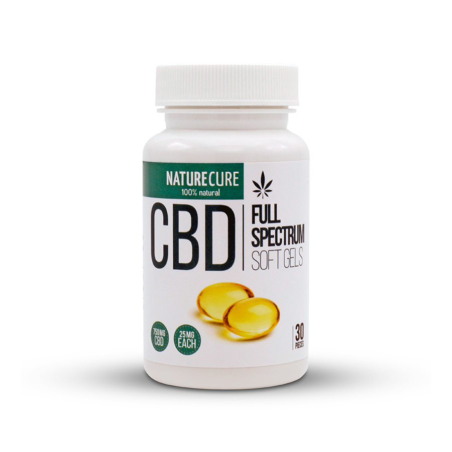 CBD kapsle full spectrum 750mg 30ks NATURE CURE