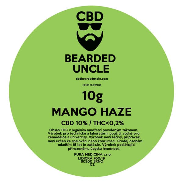 CBD květy weed MANGO HAZE 10g BEARDED UNCLE