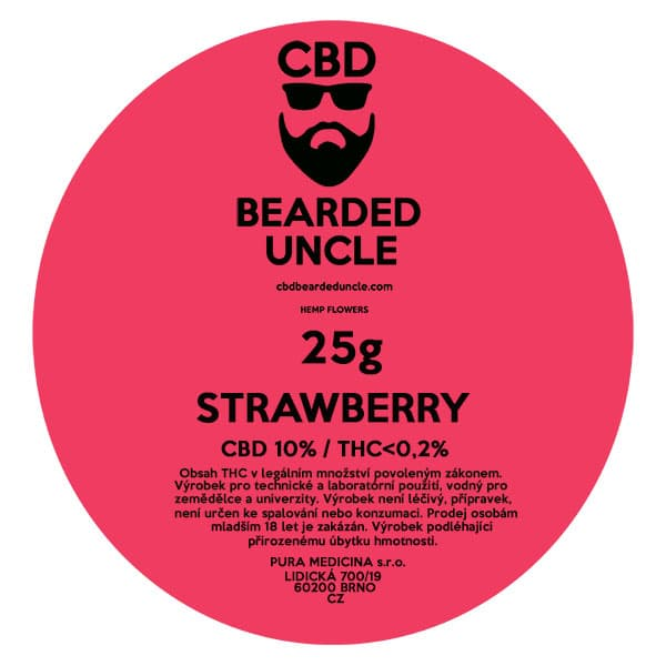 CBD květy weed STRAWBERRY 25g BEARDED UNCLE