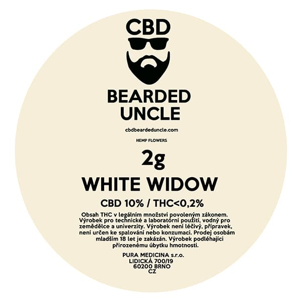 CBD květy weed WHITE WIDOW 2g BEARDED UNCLE