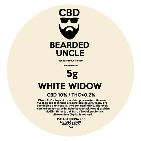 CBD květy weed WHITE WIDOW 5g BEARDED UNCLE