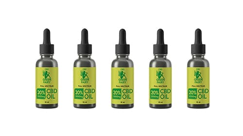 CBD olej full spectrum 20% 2000mg 5ks 10ml  GREEN FAIRY