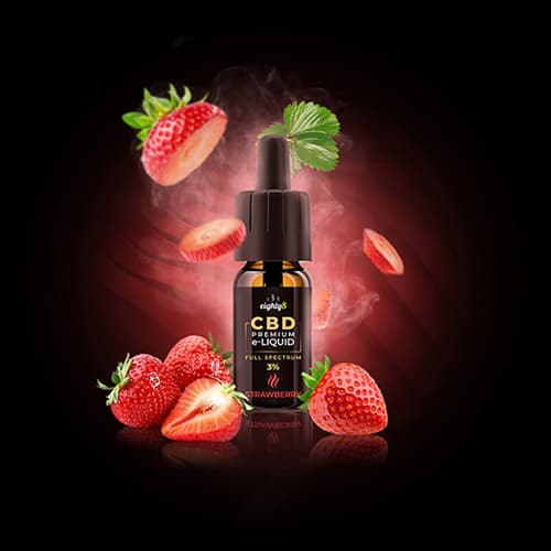 Eighty8 CBD Strawberry e-liquid 1% 10ml
